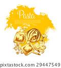 pasta, italian, sketch 29447549