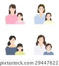 ความเป็นพ่อแม่,เพื่อนดี,พื้นหลังสีขาว 29447622