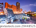 night view of daan park station in TAIWAN 29448525