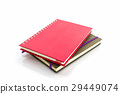 Red and brown diary book. 29449074