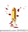 Bullet with Blood Background 29450623