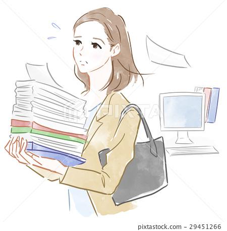 바쁘게 일하는 여성 29451266