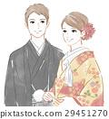 穿著和服 日式服裝 婚禮 29451270