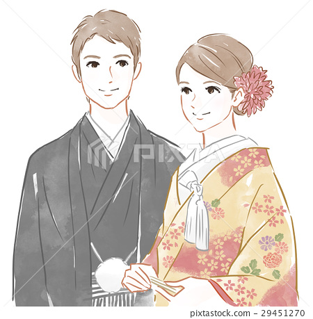 dressed in kimono, japanese clothing, marriage 29451270