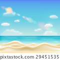 real beautiful bright sea sand beach vector 29451535