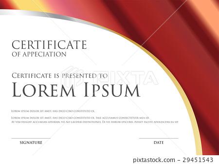 simple certificate card template with metallic gra 29451543