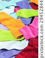 Bright multicolored socks textile background  29452844