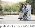 高級男性和輪椅照顧者 29453349