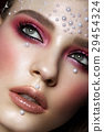 Beautiful girl with perfect art makeup and pearl 29454324
