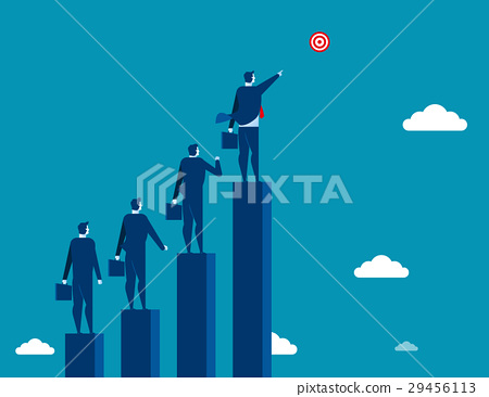 Businessman leadership pointing the target 29456113