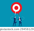 Businessman talking with shared target speech 29456129