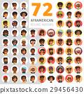 Flat African American Round Avatars 29456430