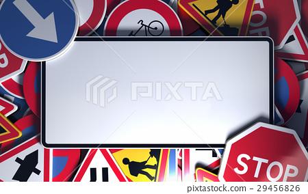 Blank French Road Signs Stock Illustration 29456826 Pixta