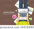 Graphic web design. Drawing and painting 29456989