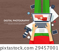 Photographer equipment on a table. Photography 29457001
