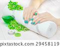 manicure, flower, hand 29458119