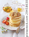 pancakes, strawberries, caramel 29458630