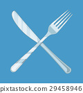Crossed Knife and fork. 29458946