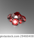 Background with red gemstones. 3D illustration 29460408