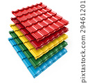 Color metal roof tile stack 29461201