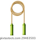 Coiled skipping rope (jump-rope ring) 29463503