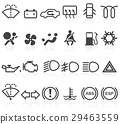 Set of simple car dashboard icons 29463559