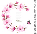 Nature background with blossom branch of flower 29475590