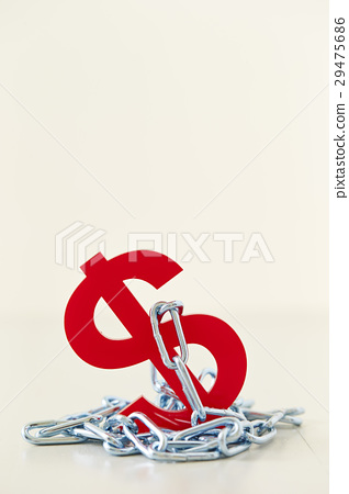 Dollar sign and chain 29475686
