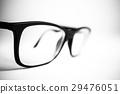 Glasses black and white close up. White background 29476051