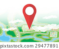 vector icon map 29477891