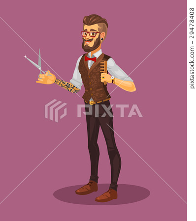 Vector illustration of a young stylist 29478408