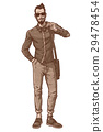 Vector illustration of a fashionable guy 29478454