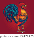 Vector illustration of a rooster 29478475