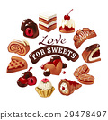 Set of vector icons  sweets 29478497