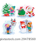 Icons small children decorate the Christmas tree 29478560