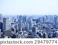 东京城市风景建筑群和住宅区 29479774