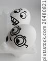 Eggs are funny with faces. Concept fear fear 29480821