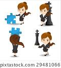 cute cartoon businesswoman 29481066