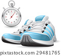 Running Shoes and stopwatch 29481765