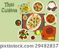 Thai cuisine icon for spicy asian food design 29482837