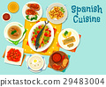Spanish cuisine healthy lunch icon design 29483004