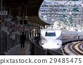 the tokaido shinkansen line, bullet train, shinkansen 29485475