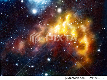 Cosmic space and stars, color cosmic abstract 29486257