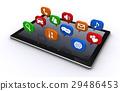 태블릿과 아이콘 29486453