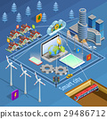 Smart City Infrastructure Isometric Poster 29486712