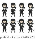 忍者 插圖 插畫 29487573