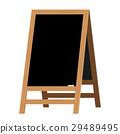 Menu Black Board. Vector illustration. 29489495