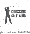 Golf club concept with golfer silhouette. 29489586
