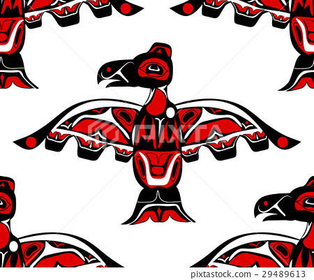 totem bird indigenous art stylization 29489613