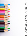 set of different colored pencils on white 29489801